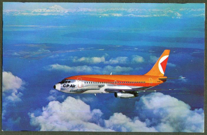 CP Air Canadian Pacific Boeing 737 postcard 1970