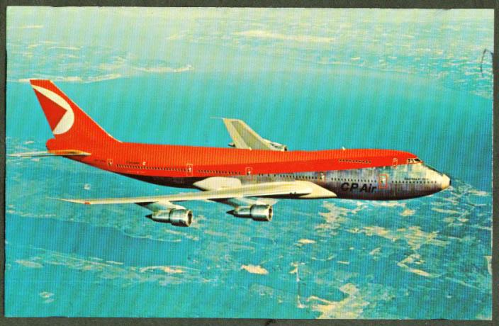 CP Air Canadian Pacific Boeing 747 postcard 1970s