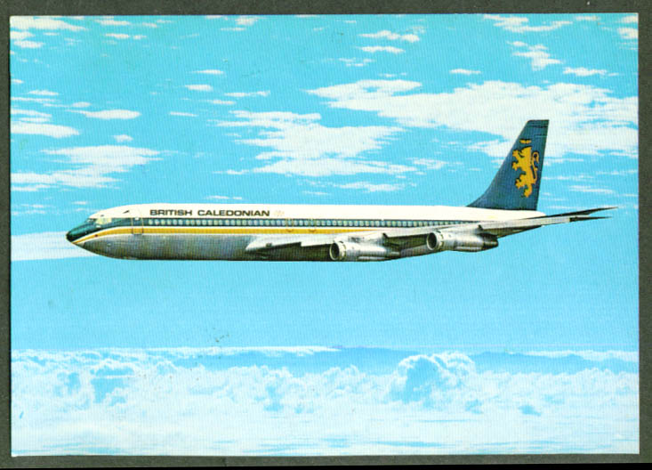 British Caledonian Airways Boeing 320C postcard 1970s