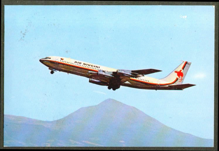 Air Niugini Airlines Boeing 707 postcard