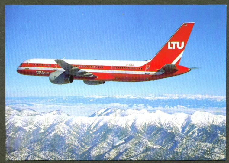 LTU SUD International Airways Boeing 757-200 postcard