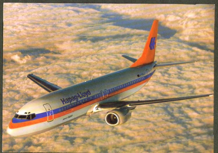 Hapag-Lloyd Flug Airlines Boeing 737 postcard