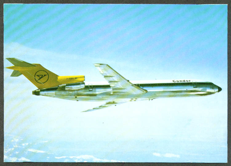 Condor Flugdienst Airlines Boeing 727-200 postcard