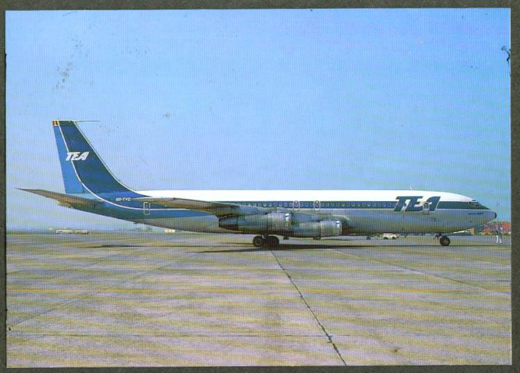 TEA Trans European Airways Boeing 707 postcard