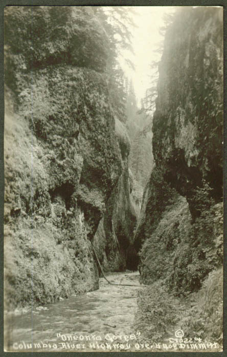 Oneonta Gorge Columbia River Highway OR RPPC 1910s