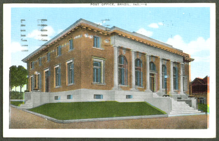 United States Post Office Brazil IN postcard 1947