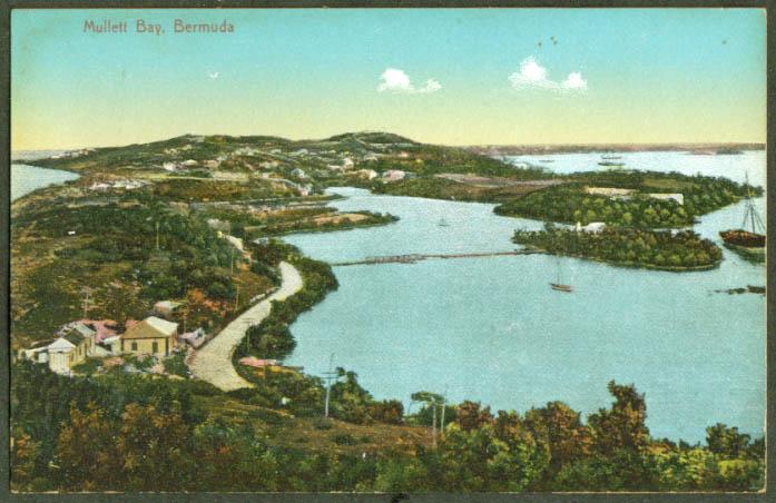 Panorama of Mullett Bay Bermuda postcard 1910s