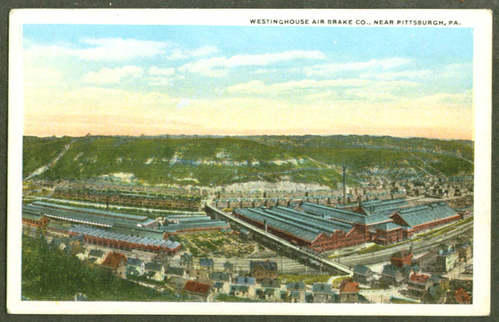 Westinghouse Air Brake Co Pittsburgh PA postcard 1920s