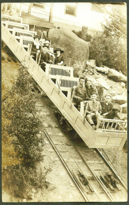 Open car Mt Manitou Incline Railway CO RPPC postcard 1910s