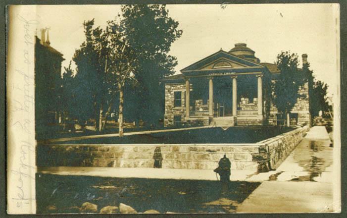 Carnegie Library Pierre SD RPPC 1907 RPO