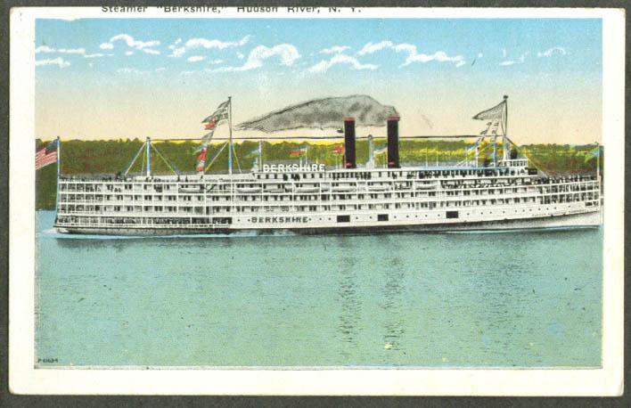 Hudson River steamer Berkshire postcard 1910s