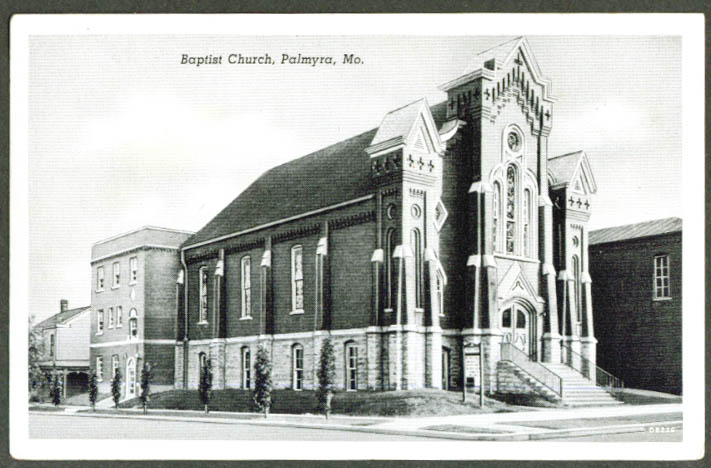 The Baptist Church at Palmyra MO postcard ca 1920s