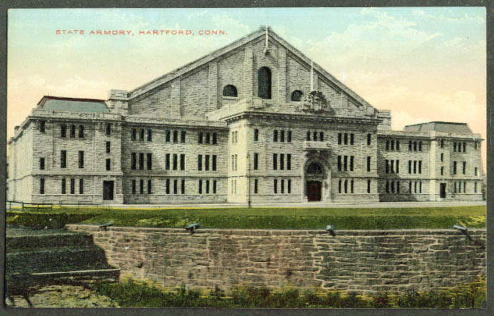 The State Armory Hartford CT postcard 1910s