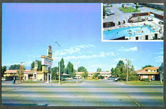 Baugh Motel 153 S Main Logan UT postcard 1960s