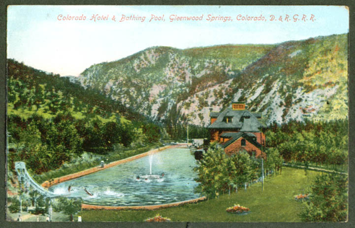Colorado Hotel Glenwood Springs CO postcard 1907 RPO