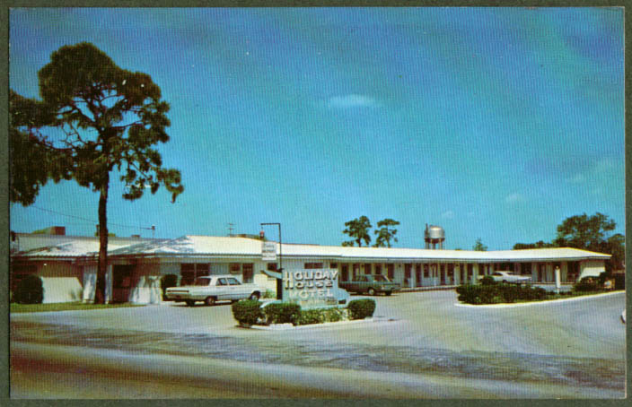 Holiday House Motel 1220 Main St Dunedin FL postcard 1960s