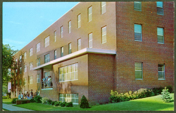 Women's Dorm Augsburg College Minneapolis postcard 1950s