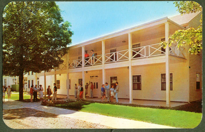 Elliott Hall Congregational Center Lisle NY postcard 1961