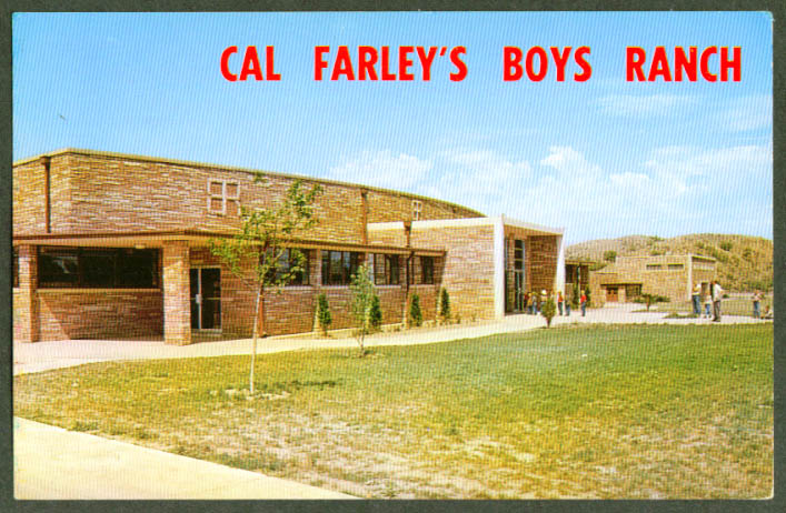 Cal Farley's Boys Ranch Amarillo TX postcard 1950s