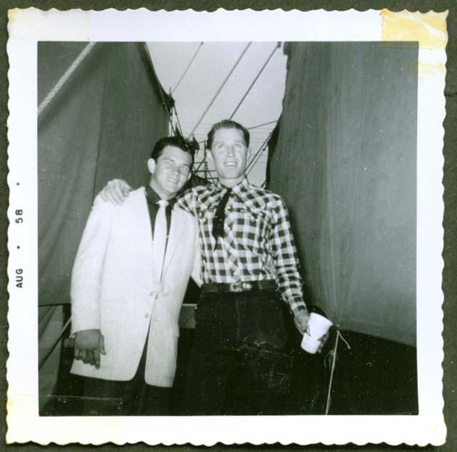 Country stars Johnny Lynn & Kenny Hill photo 1958