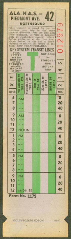 Oakland Key System RR transfer 1948 Alameda NAS
