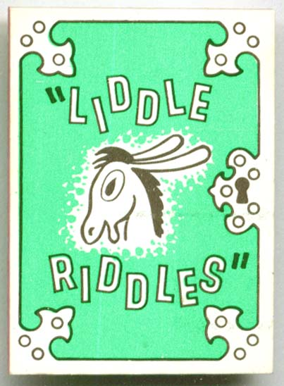 Cracker Jack premium Liddle Riddles book 1968