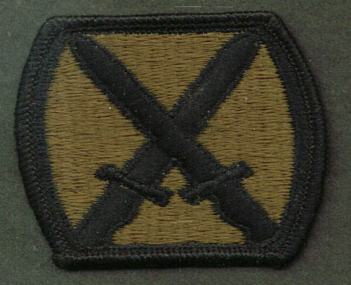 Image for US Army 10th Mountain Division SSI subdued patch