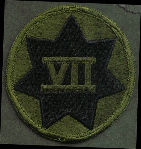 Image for US Army Seventh Corps SSI subdued patch
