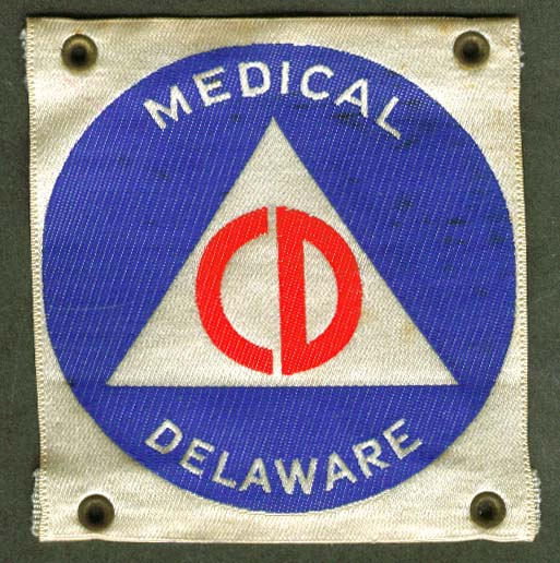 Civil Defense Medical arm insignia Delaware CD