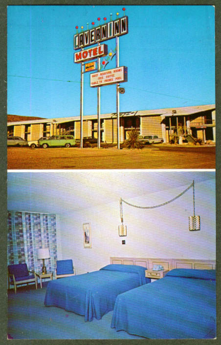 Cavern Inn Motel White's City NM 2-vue postcard 1960s