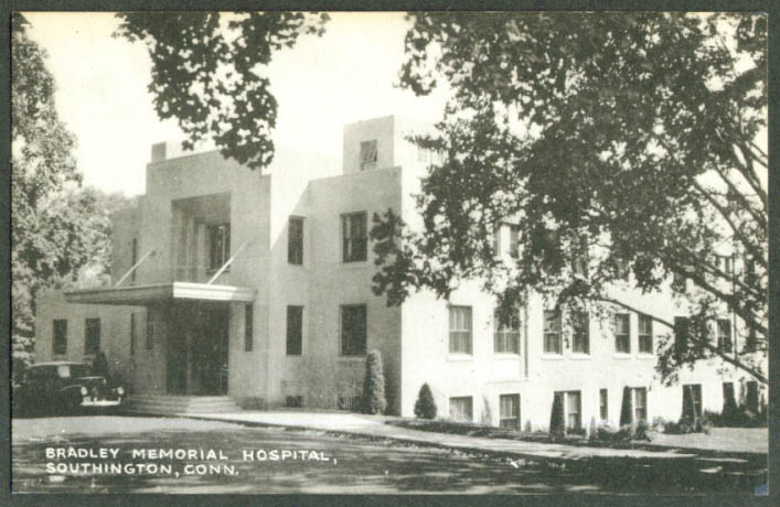 Bradley Memorial Hospital Southington CT postcard 1930s