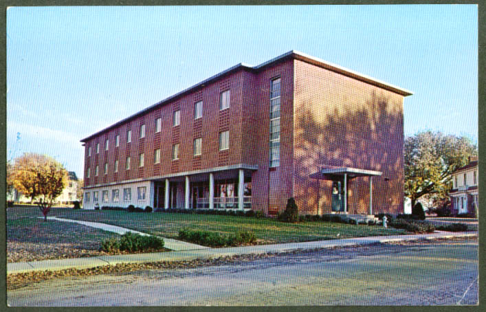 Moeller Girls Dorm St Paul's College MO postcard 1950s