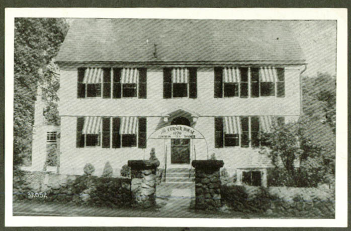 Corner House 1770 Farmington CT postcard 1940s