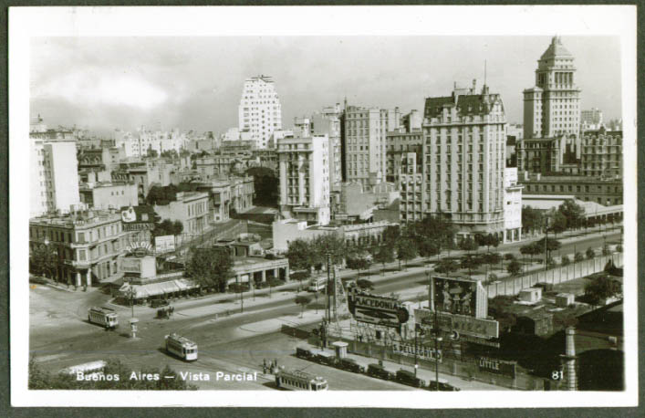 Vista Parcial Buenos Aires Argentina RPPC 1930s