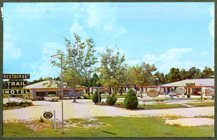 Trail Motel & Restaurant Lawley FL postcard 1964