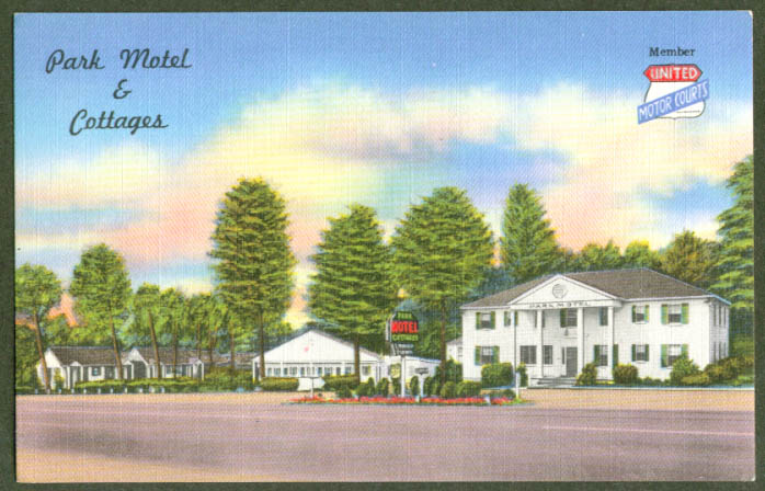 Park Motel & Cottages Richmond VA postcard 1940s
