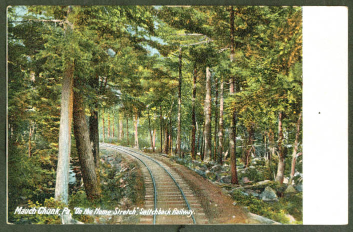 Home stretch Switchback Ry Mauch Chunk PA undivided back postcard 1900s