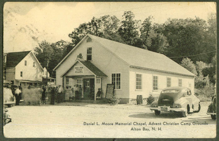 Moore Chapel Advent Christian Camp NH postcard 1953