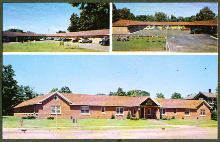 Miller's Lakeside Motel Ludington MI 3-vue postcard 1950s