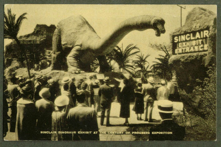 Sinclair Exhibit Century of Progress Expo postcard 1933