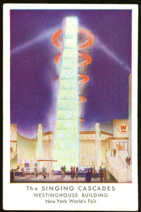 Singing Cascades New York World's Fair 1939 postcard