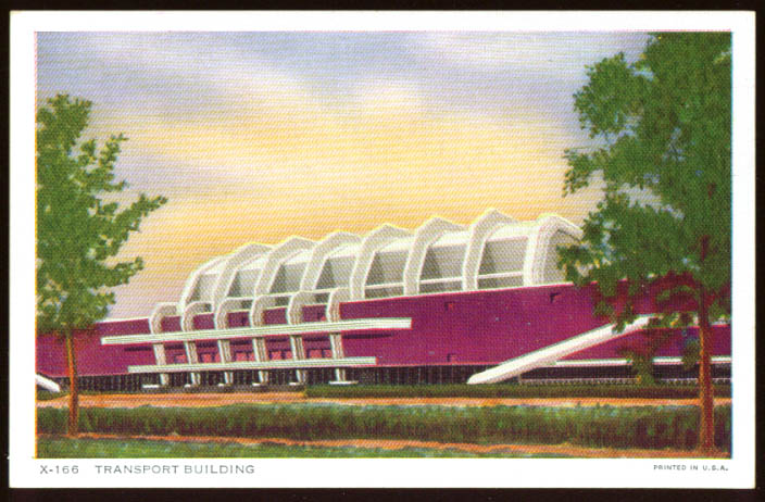 Transport Building Century of Progress 1934 postcard
