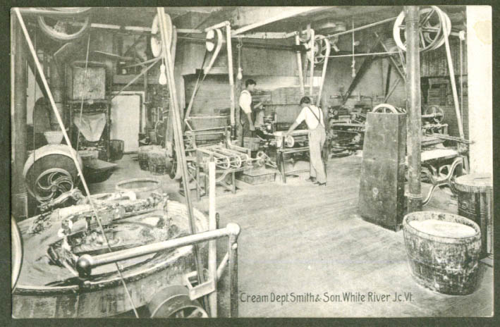 Cream Dept Smith & Son White River Jct NH postcard 1910