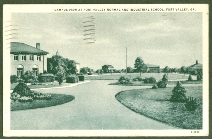 Ft Valley Normal Industrial School GA postcard 1938