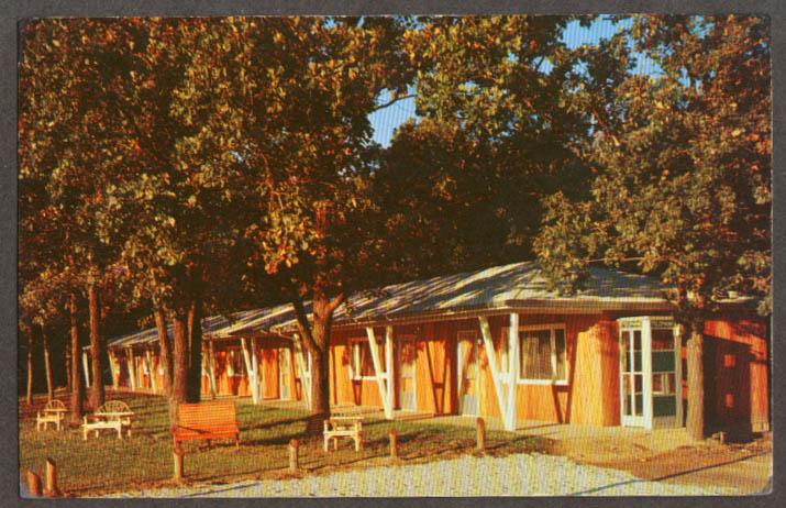 Arrowhead Motel Park Entrance Rd Utica IL postcard 1950s