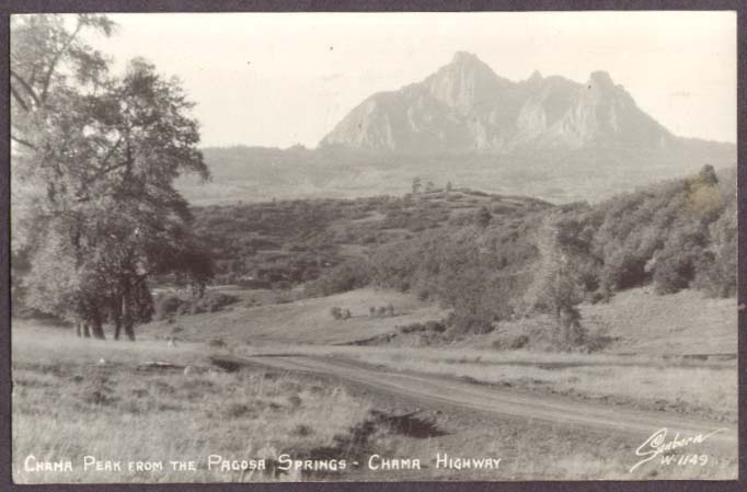 Chama Peak Pasoda Springs Chama Highway CO RPPC 1950