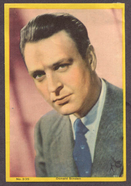 British actor Donald Sinden 3x5 pic Argentina 1959