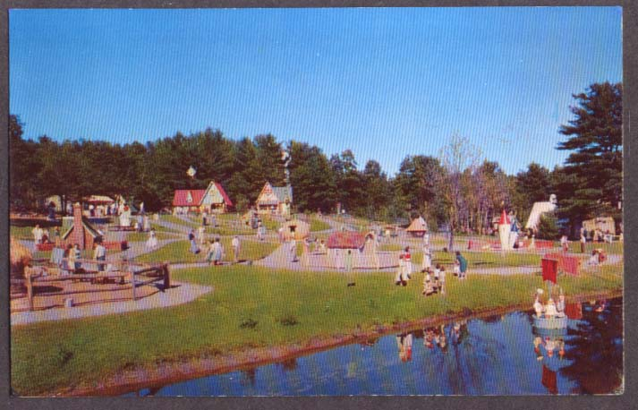 Panorama of Storytown USA Lake George NY postcard 1967