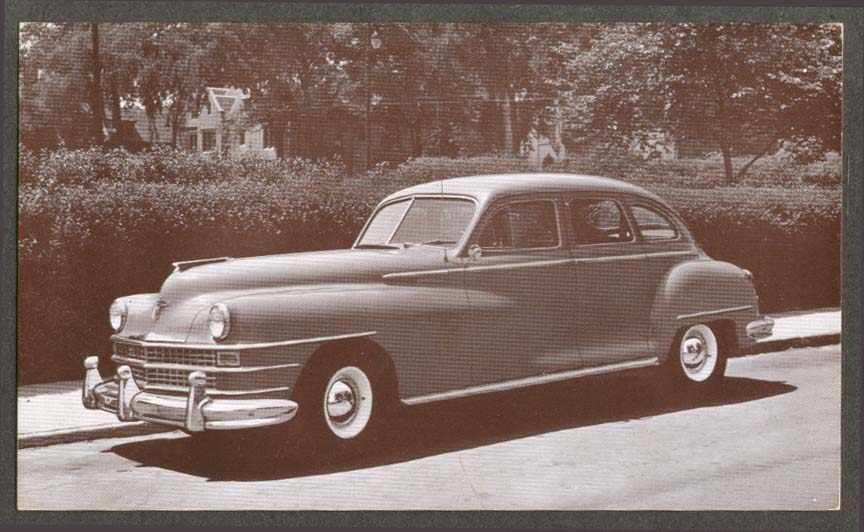 1946 Chrysler Saratoga New Yorker 4-dr Sedan postcard