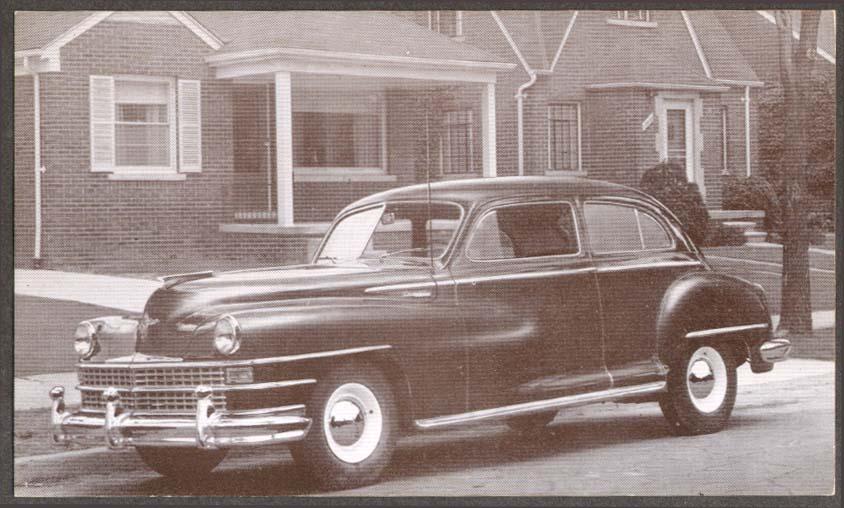 1948 Chrysler Windsor 2-door Sedan postcard